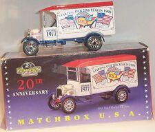 KKar Matchbox  Y-39 -1926 Ford TT Van - Matchbox USA - White
