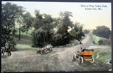 KANSAS CITY  MO~1900's AUTO OUTING ~ DRIVE IN PENN VALLEY PARK ~ Un-Paved Road