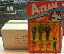 "THE A-TEAM SOLDIERS OF FOTUNE 3 3/4"" GOOD GUYS SET MOSC/CARDED - GALOOB 1983 (C)"