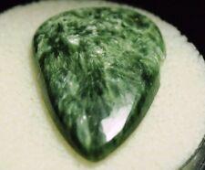 SERAPHINITE CLINOCHLORE chatoyant green,Pear cab,SE-A15A,18.58ct,31x21x4mm