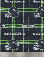 Fabric Traditions NFL Fabric, Seattle Seahawks Flannel Football Fabric, Quilting