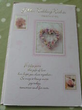 GOLDEN Wedding Wishes per entrambi CARD