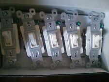 Mixed Lot of 20 WHITE & ALMOND 3Way TOGGLE SWITCH 15 Amp 663-WG & 663-LAG&664-WG