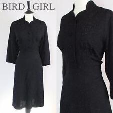 ORIGINAL WW2 1940S VINTAGE LACK FLORAL LANDGIRL WREN WARTIME DAY DRESS 16-18 L
