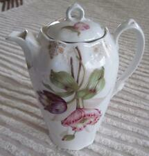 1880's-1918 Zeh Scherzer & Co. Mignon Tulips Chocolate Pot Made in Bavaria