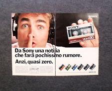 K965-Advertising Pubblicità- 1985 - SONY , CASSETTA UCX S90 , POCHISSIMO RUMORE