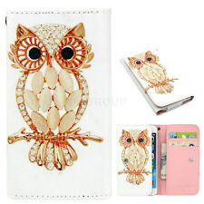 Newest Universal Folio PU Leather Wallet Case Cover Protector For Samsung iPhone