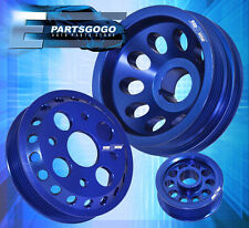FOR 350Z G35 FX35 UNDERDRIVE CRANKSHAFT ALTERNATOR IDLER PULLEY WHEEL KIT BLUE