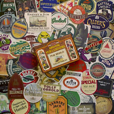 50 Large Famous Brand British & Irish Pub BEER MAT COASTERS | all different