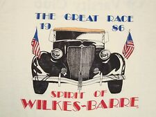 Vintage The Great Race 1986 80's Wilkes Barre Varsity Club Paper Thin T Shirt M