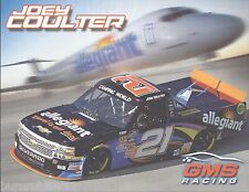 """2014 JOEY COULTER """"ALLEGIANT"""" #21 GMS RACING NASCAR CAMPING WORLD TRUCK POSTCARD"""