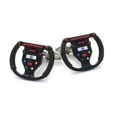 Gamepad Cufflinks Wheel Race Car Steering Wheel + Box & Cleaner