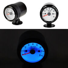 "2"" 52mm Black Car Motor Universal Pointer Tacho Tachometer Gauge Dials RPM LED"
