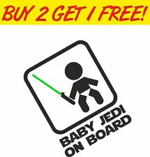 Baby Jedi on Board FUNNY JDM EURO STAR STICKER VINYL VW VAG DUB WARS