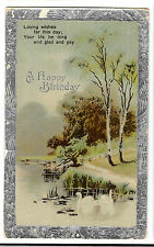 A Happy Birthday, Loving Wishes for this Day, PPC Dorchester 1924 to Blandford