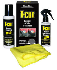 T-Cut Grey Bumper & Trim Restoration Kit Permanent Colour Treatment, Rubber etc.
