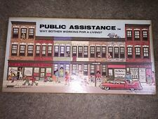 Public Assistance Board Game Vintage 1980 Welfare Banned Adult RARE Not Played!