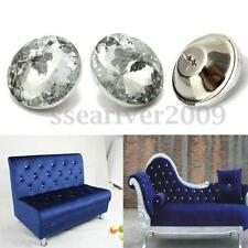 Sparkly 30mm Large Rhinestone Diamond Crystal Charm Upholstery Sew On Button NEW