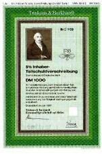 Trinkaus & Burkhardt Bank Düsseldorf  Essen historische DM Anleihe 1990 HSBC TuB