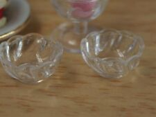 Glass Effect Bowls Miniatures for a Dolls House, Kitchen Tableware Accessory