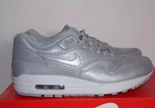 Womens Nike Air Max 1 Cut Out Premium Wolf Grey White SZ 7 ( 644398-001 ) $170