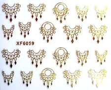 Gold 3D Nail sticker DIY decal 2 sheets fingernail manicure dream catcher