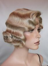 Fingerwave Finger Wave Rose Wig .. Champagne Blonde . THEATRE WIG Best Seller! *