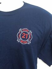 Cicero Indiana Fire Department embroidered 2 sided navy T-Shirt sz L large