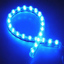 Aquarium Fish Tank BLUE Moon Lighting 24 LED Flexible Strip Light With Power