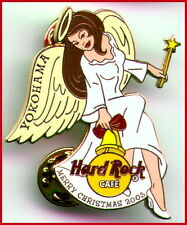 Hard Rock Cafe YOKOHAMA 2003 CHRISTMAS PIN Sexy Angel Girl with Bell HRC #20048