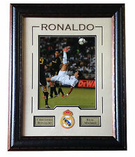 Cristiano Ronaldo Real Madrid 11x14 framed bike kick photo patch soccer