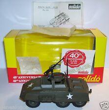 CHAR SOLIDO MILITAIRE MILITARY COMBAT CAR AUTO-MITRAILLEUSE MACH GUN M20 REF 200