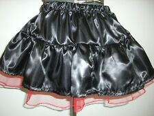 black satin tutu mini skirt custom made 10 12 14 16 18 20 22 24 26 28 30 32 34
