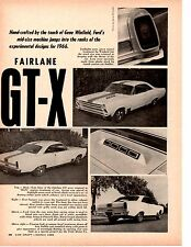 1966 FORD FAIRLANE GT-X   ~   ORIGINAL 2-PAGE ARTICLE / AD