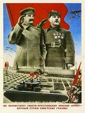 Propaganda UNIONE SOVIETICA STALIN Militare Armata Rossa PARADE Arte Poster Stampa lv7040