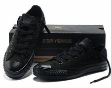 Women Lady ALL STARs Chuck Taylor Ox Low Top classic Full Black Sneakers US7