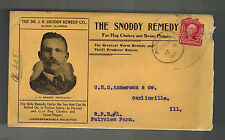 1904 Alton IL USA Snoddy Remedy Hog Cholera Swine Plague ADvertising Cover w/ltr