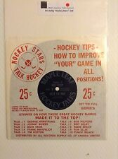 1960's Brit Selby Maple Leafs Hockey Talks record