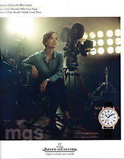 Carmen Chaplin 1-page clipping 2016 ad for Jaeger-LeCoultre watches