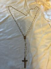 Antique 12k Gold  Crystal Bead Rosary