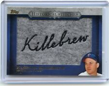 "2012 TOPPS #HS-HK HARMON KILLEBREW ""HISTORICAL STITCHES"" PATCH, TWINS, 080114"