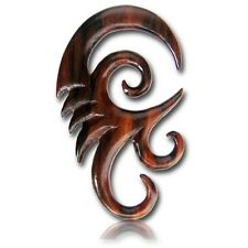 PAIR 8G (3MM) SPIRALS SONO WOOD TALONS PLUGS EAR PLUG HANGER GAUGE HOOKS CLAW