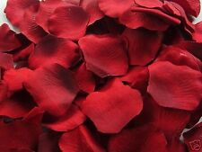 1000 Burgundy Silk Rose Petals Wedding Party Decorations Flower Favors