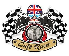 Union Jack British Flag CAFE RACER Ton Up Club Retro motorbike helmet sticker