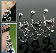 BAUCHNABELPIERCING DRAGON , PIERCING NSG DR-N