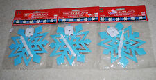 LOT Snowflakes Tissue Paper Garland Light Blue & White Vintage Christmas Decor