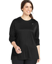 New $48 Nike  Plus Size  Long-Sleeve Black Dri-FIT Running Top Women's Size 3X
