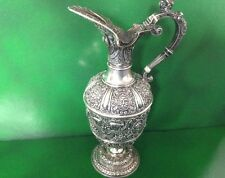 Victorian Antique English Sterling Silver Cellini Claret Jug Wine Ewer 1897