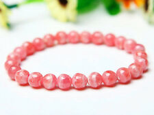 Natural Argentina Rose Rhodochrosite Gemstone Bracelet Beads 6 MM