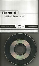 RANCID Fall back Down GERMANY Made  PROMO Radio DJ CD Single MINT USA Seller